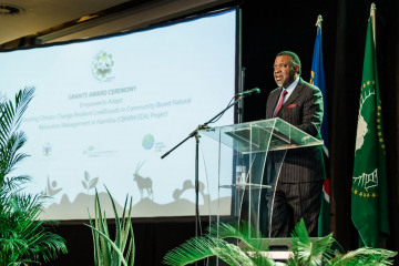The Environmental Investment Fund of Namibia (EIF) hosted the CBNRM EDA Grants awards ceremony yesterday the 11th June 2019 where nineteen (19) grants to the value of (N$ 85 million) were handed over to conservancies and community forests as part of the first call for proposals for climate change projects.