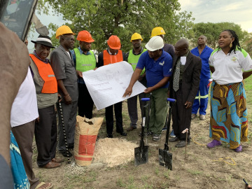 Ground-breaking ceremony for the flood relief centre development project in Lusese conservancy on the 24th november 2019 in Lusese village