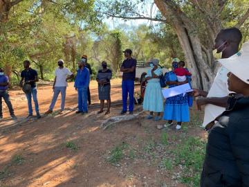 Fransfontein Garden Site Handover